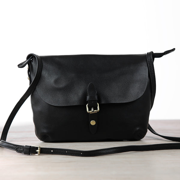 Small Womens Genuine Leather Satchel Bag Crossbody Bags for Women