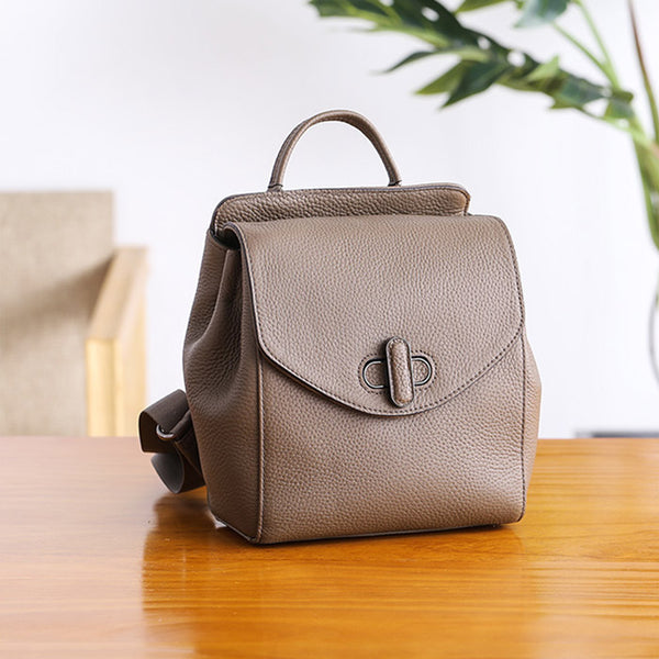 Small Womens Leather Backpack Purse Cute Backpacks for Women Chic