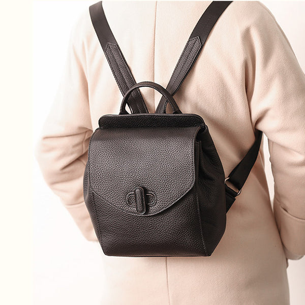 Small Womens Leather Backpack Purse Cute Backpacks for Women Designer