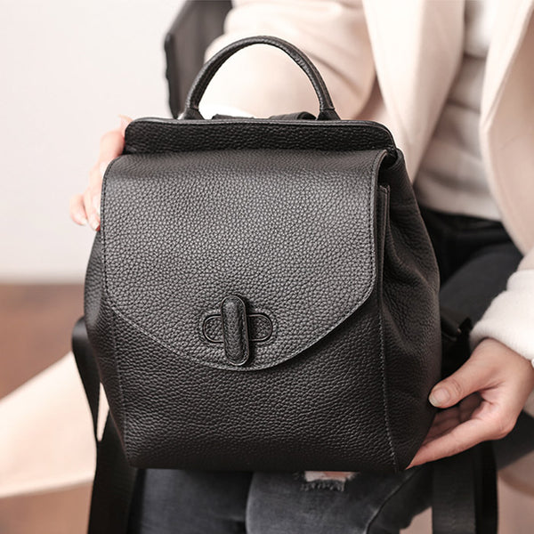 Small Womens Leather Backpack Purse Cute Backpacks for Women Details
