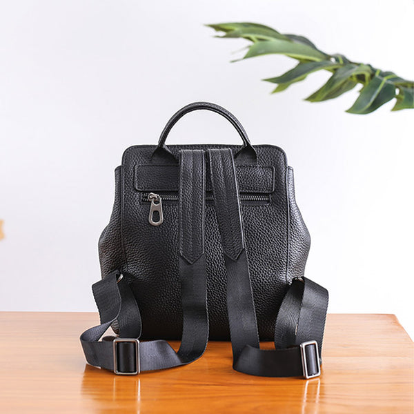Small Womens Leather Backpack Purse Cute Backpacks for Women Minimalist