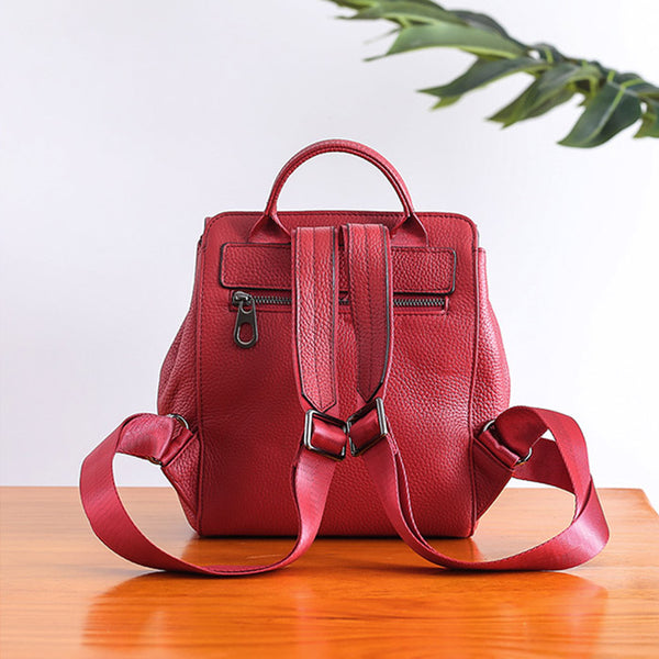 Small Womens Leather Backpack Purse Cute Backpacks for Women work bag