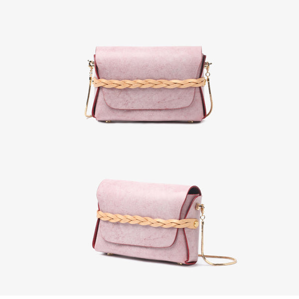 Small Womens Leather Crossbody Bags Chain Purse Shoulder Bags for Women beautiful