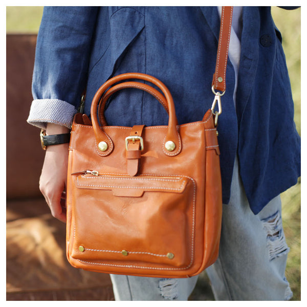 Small Womens Leather Crossbody Tote Bag Shoulder Handbags Purse for Women Trendy