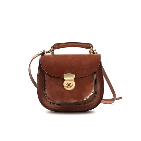 Small Womens Tan Leather Crossbody