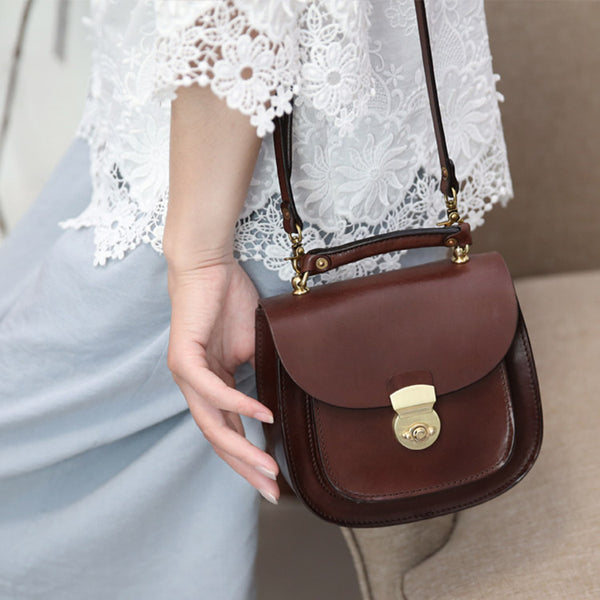 Leather Small Crossbody Handbags Bags Purse for Women