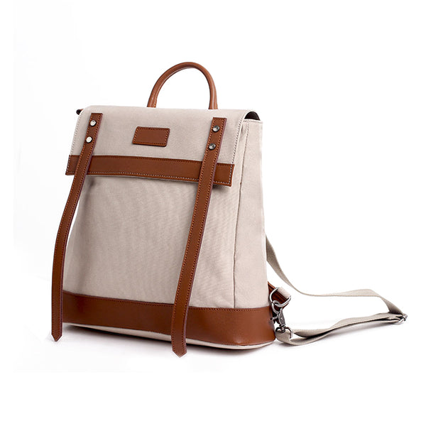Medium Canvas Rucksack Trendy Zip Backpack Purse Laptop Backpacks for Women Accessories