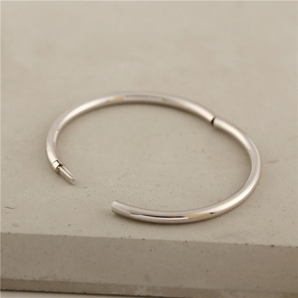 Handmade Sterling Silver Bangle Bracelets Unique Jewelry Accessories Gifts For Women