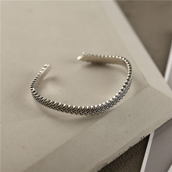 Sterling Silver Bangle Bracelets Unique Jewelry Accessories Gifts Women beautiful