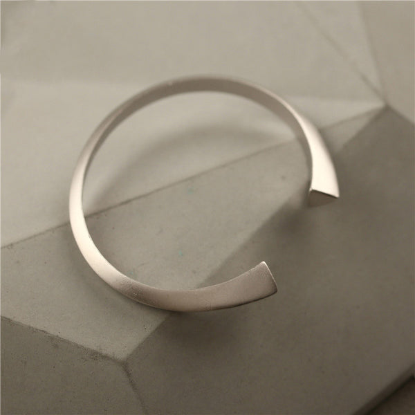 Handmade Sterling Silver Bangle Bracelets Minimalistic Jewelry Accessories Gifts For Women