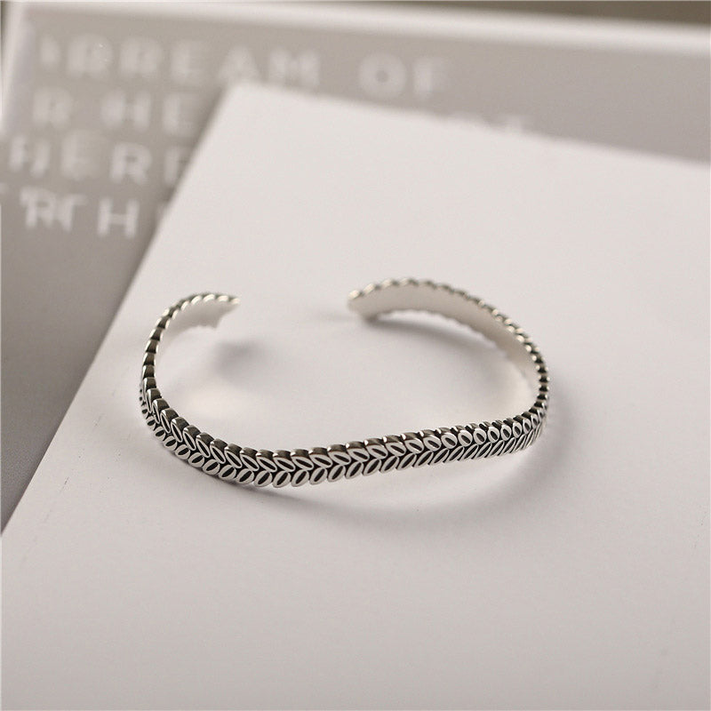 Sterling Silver Bangle Bracelets Unique Jewelry Accessories Gifts Women