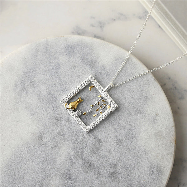Sterling Silver Cute Pendant Necklace Handmade Jewelry Accessories Women adorable