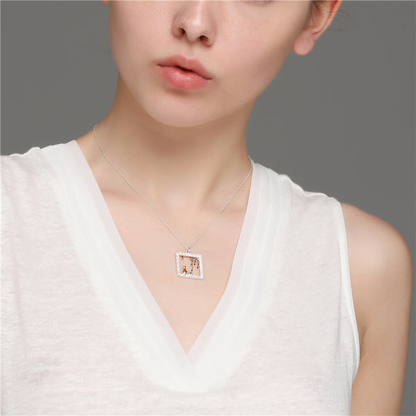 Sterling Silver Cute Pendant Necklace Handmade Jewelry Accessories Women chic
