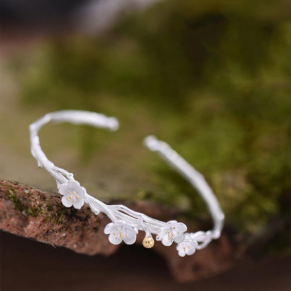 Sterling Silver Flower Bracelets for girlfriend