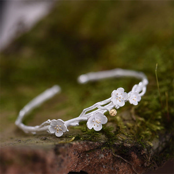 Sterling Silver Flower Bracelets for women