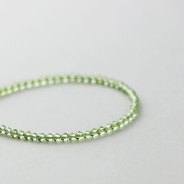 Sterling Silver Peridot Beaded Anklet Handmade Jewelry Accessories Women chic