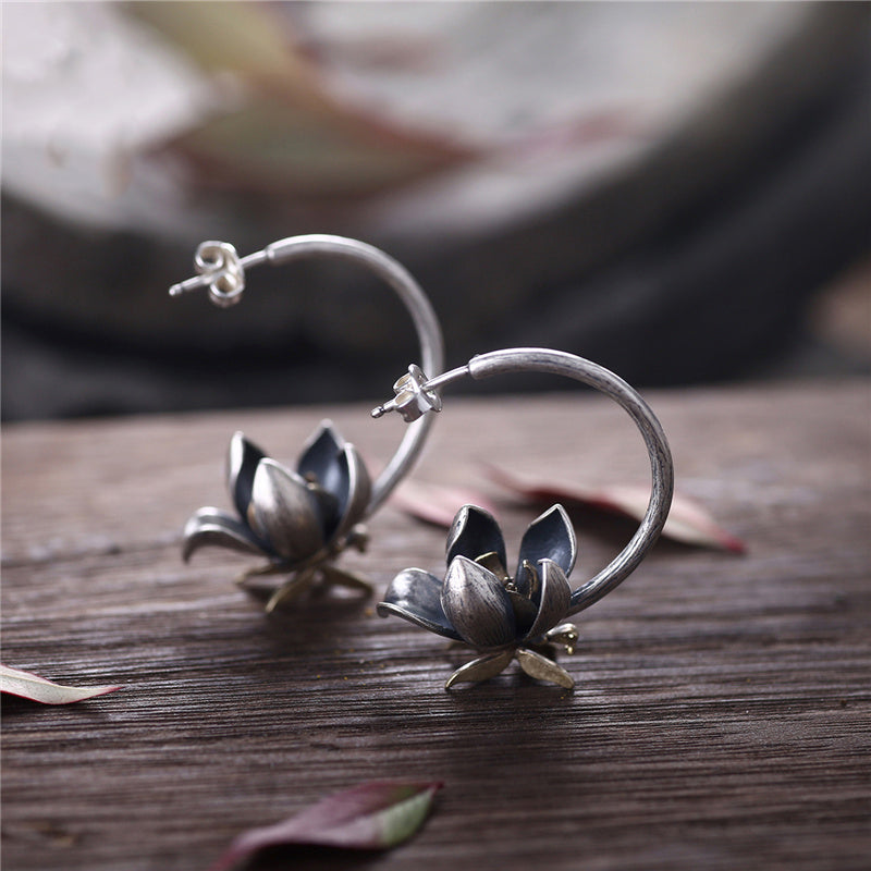 Sterling Silver Stud Earrings Handmade Jewelry Gifts Accessories Women chic