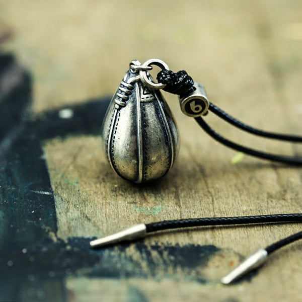 Sterling Silver Tetherball Pendant Necklace Handmade Jewelry Gifts Accessories Women Men