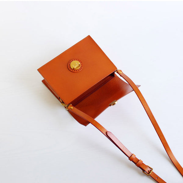 Stylish Brown Leather Womens Small Leather Crossbody Bags Shoulder Bag Boutique