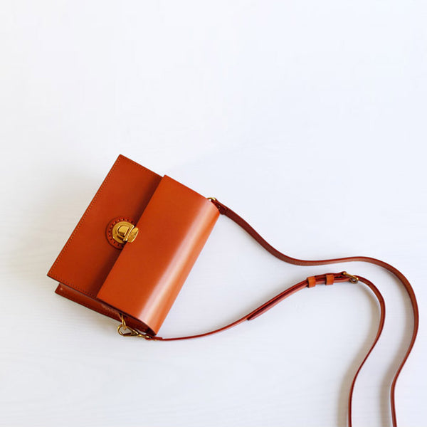 Stylish Brown Leather Womens Small Leather Crossbody Bags Shoulder Bag beautiful