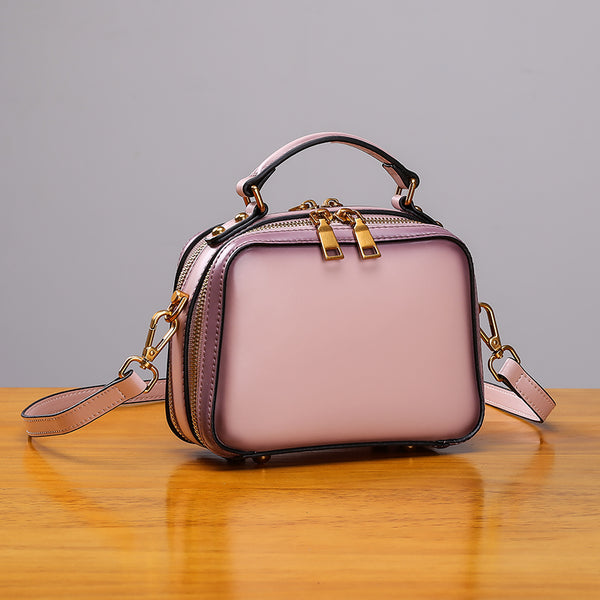 Stylish Cube Bag Womens Leather Crossbody Bags Shoulder Bag for Women Accessories