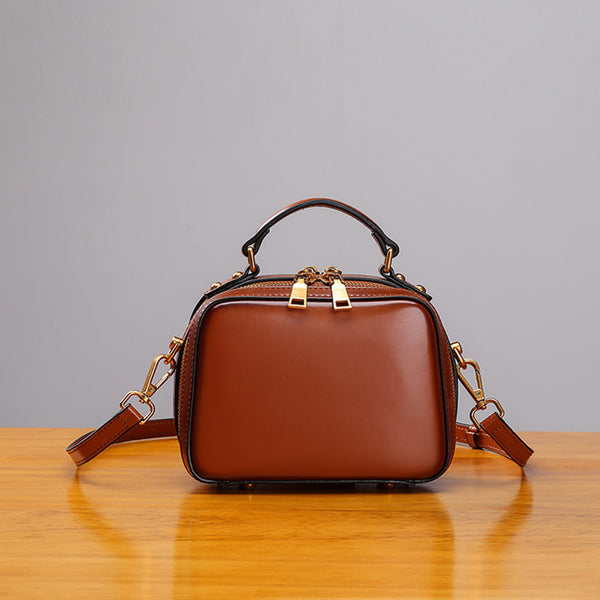 Stylish Cube Bag Womens Leather Crossbody Bags Shoulder Bag for Women Details