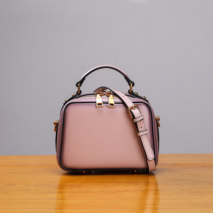 Stylish Cube Bag Womens Leather Crossbody Bags Shoulder Bag for Women beautiful