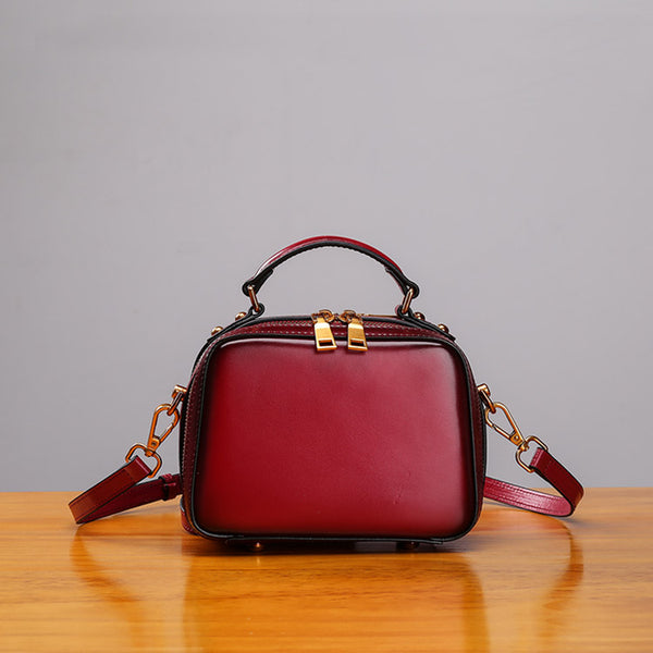 Stylish Cube Bag Womens Leather Crossbody Bags Shoulder Bag for Women Original