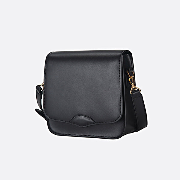 Stylish Ladies Black Leather Handbags Shoulder Bag Purses for Women