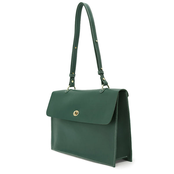 Stylish Ladies Leather Handbags Green Leather Shoulder Bag for Women Genuine Leather