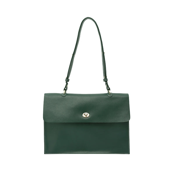 Stylish Ladies Leather Handbags Green Leather Shoulder Bag for Women best