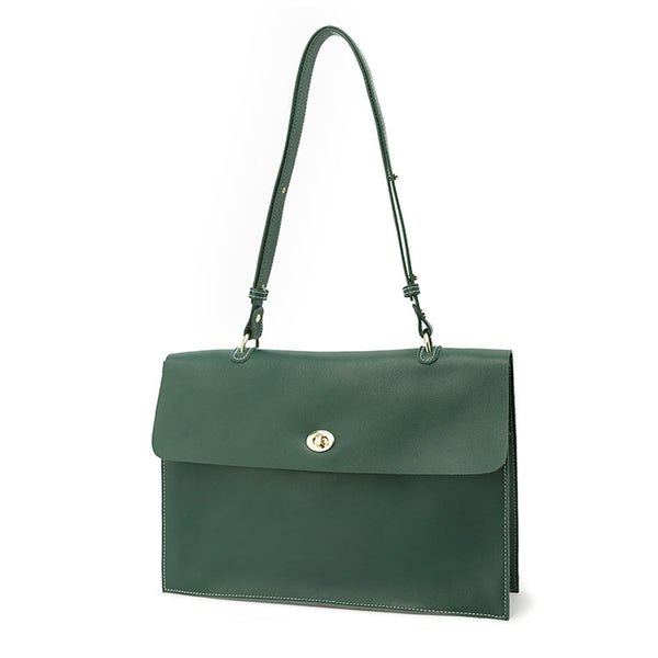 Stylish Ladies Leather Handbags Green Leather Shoulder Bag for Women fashion