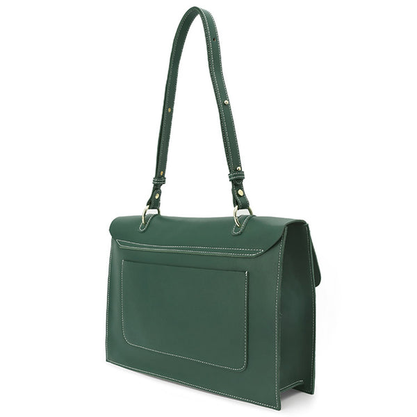 Stylish Ladies Leather Handbags Green Leather Shoulder Bag for Women gift
