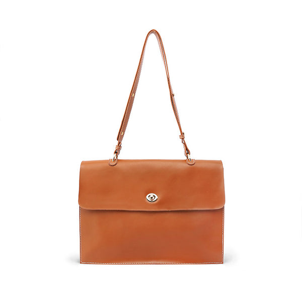 Stylish Ladies Leather Handbags shoulder bag brown women