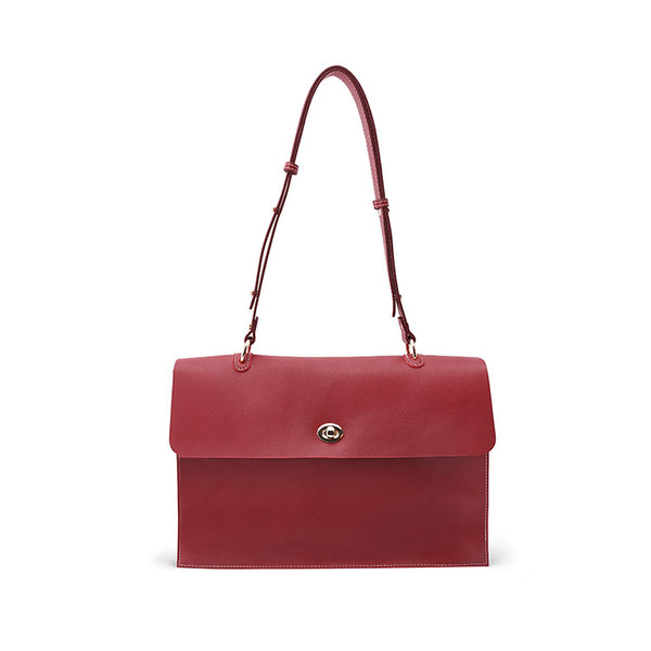 Stylish Ladies Leather Handbags shoulder bag red