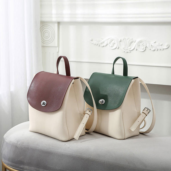 Stylish Ladies Small Leather Backpack Purse Trendy Backpacks for Women cute