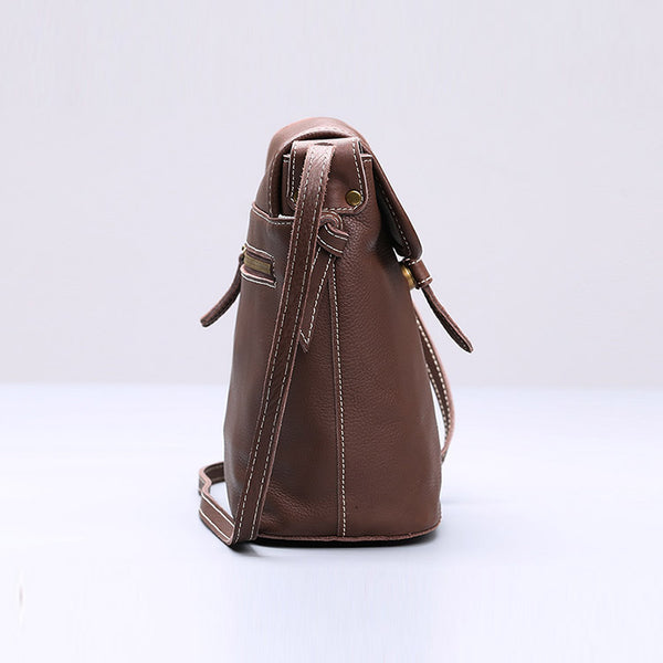 Stylish Leather Womens Bucket Bag Crossbody Bags Purse Shoulder Bag Details