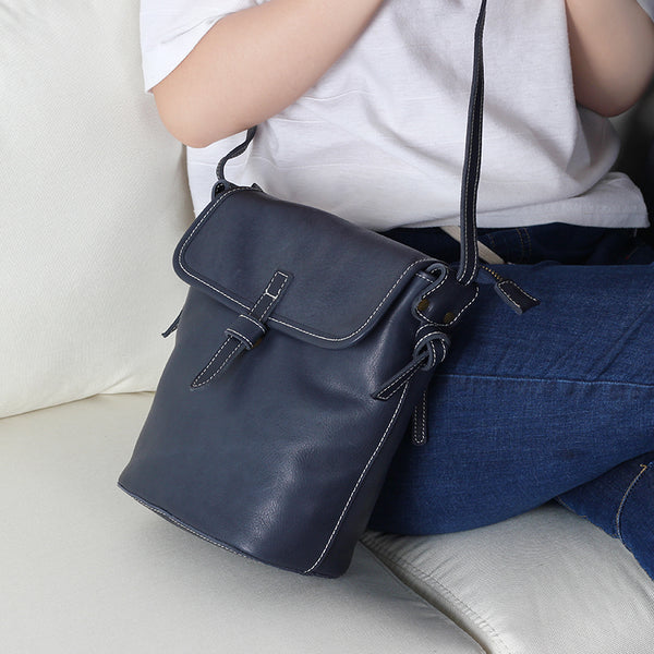 Stylish Leather Womens Bucket Bag Crossbody Bags Purse Shoulder Bag cool