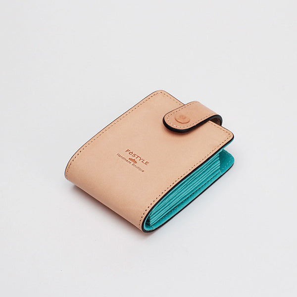 Stylish Leather Womens Card Wallet Credit Card Holder Wallet for Women Genuine Leather