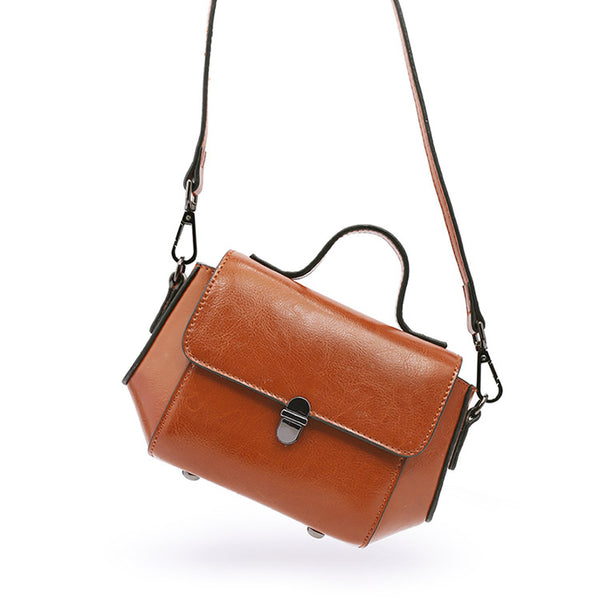 Stylish Women Brown Leather Crossbody Bags Leather Handbags for Women