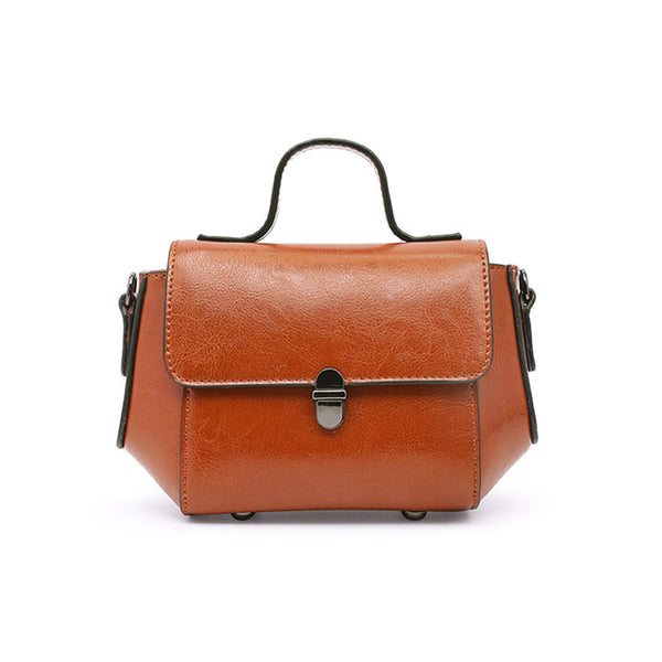 Stylish Women Brown Leather Crossbody Bags