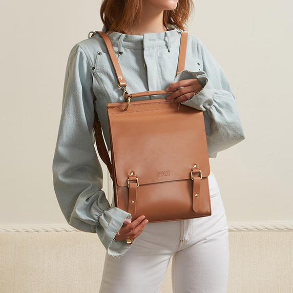 Stylish Women's Leather Backpack Purse Cool Backpacks for Women fashion