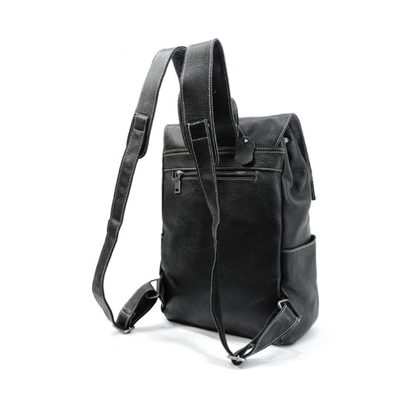 Stylish Womens Black Leather Backpack Bag Laptop Book Bag Purse for Women Chic