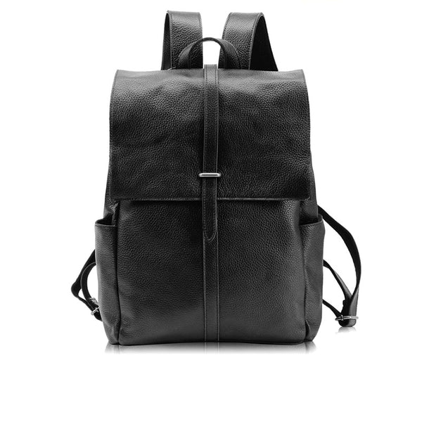 Stylish Womens Black Leather Backpack Bag Laptop Book Bag Purse