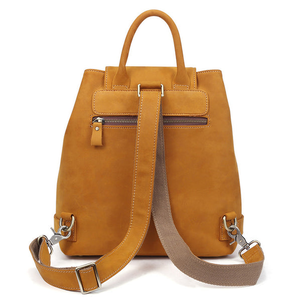 Stylish Womens Brown Leather Backpack Purse Cross Shoulder Bags for Women Quality