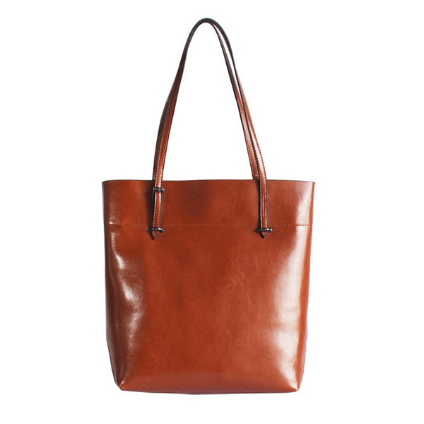 Stylish Womens Brown Leather Tote Bag Handbags Shoulder Bag for Women chic