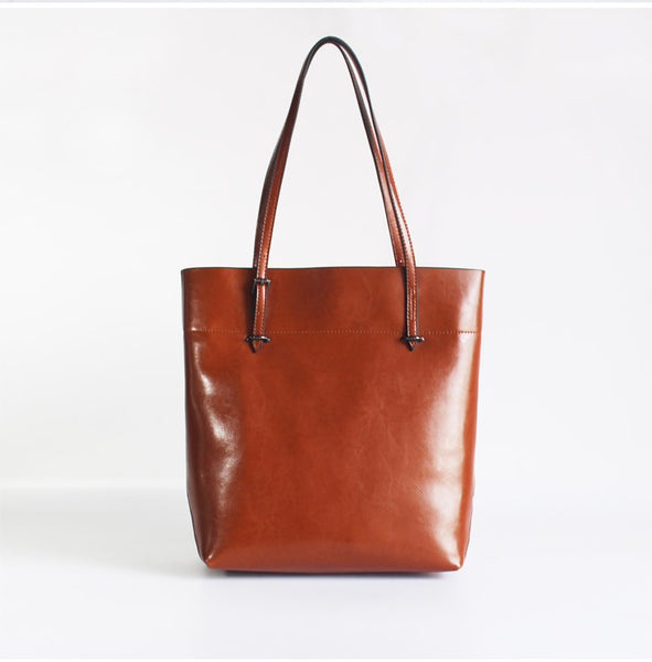 Stylish Womens Brown Leather Tote Bag Handbags Shoulder Bag for Women cool