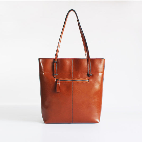 Stylish Womens Brown Leather Tote Bag Handbags Shoulder Bag for Women cute