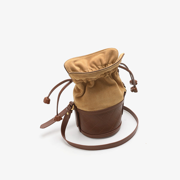 Stylish Womens Bucket Bag Leather Crossbody Bags Purse for Women Boutique