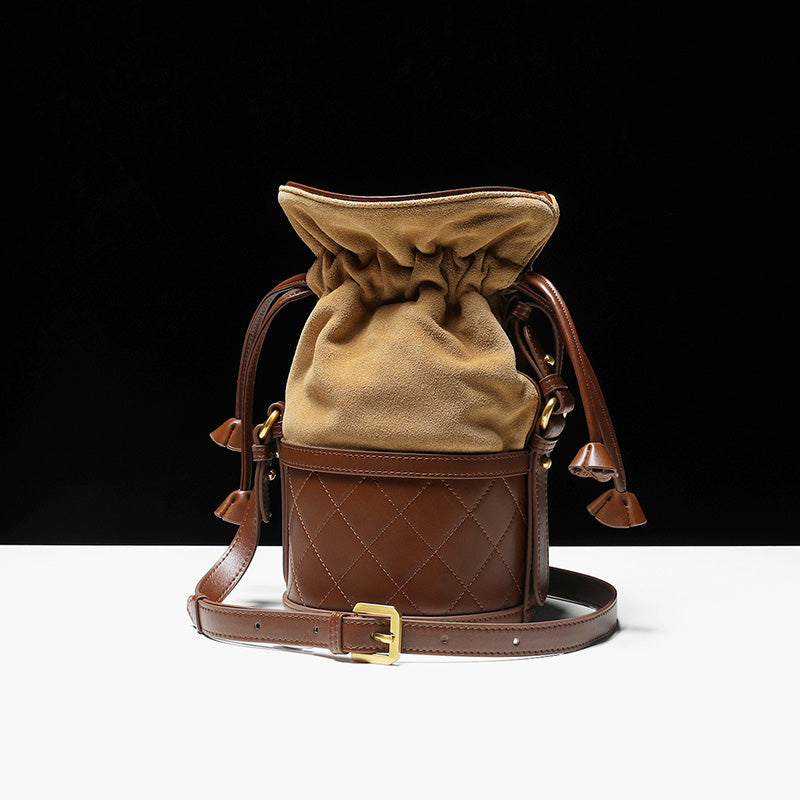 Stylish Womens Bucket Bag Leather Crossbody Bags Purse for Women cool